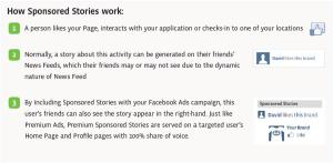 Facebook Sponsored Stories Explanation