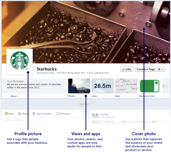 starbucks facebook cover image