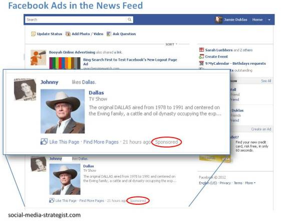 Facebook Ads in News Feed